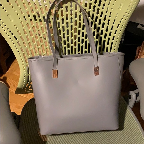 Ted baker grey leather large tote